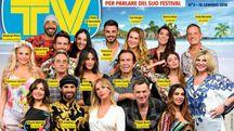 La copertina di Tv Sorrisi e Canzoni con il cast de 'L'isola dei famosi 2018'