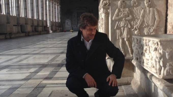 Alberto Angela al Camposanto monumentale di piazza dei Miracoli (Fonte: PisaInforma Flash)
