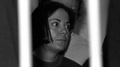L'ex brigatista Barbara Balzerani ai tempi del processo (Ansa)