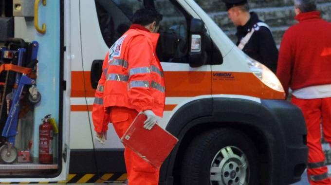 Una foto generica  di una ambulanza