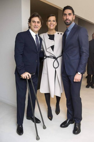 Roberta Armani, Alex Zanardi e Filippo Magnini (Ansa)