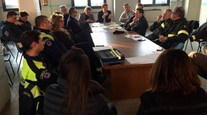 L'incontro in Comune con tecnici e soccorritori