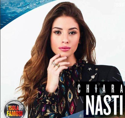 Chiara Nasti concorrente ufficiale dell'Isola dei Famosi 2018