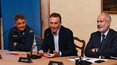 Mister Boscaglia e il presidente del Brescia, Cellino, hanno ripreso il cammino insieme