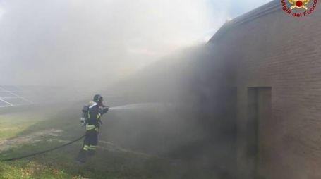 L'incendio a Fermignano