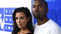 Kim Kardashian e Kanye West (Ansa)