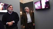 Claudio Mazzanti, curatore della mostra, con Vittorio Sgarbi (Foto Schicchi)