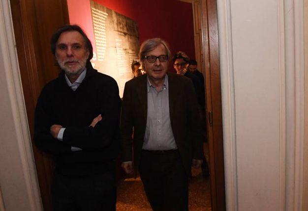Mazzanti e Sgarbi (foto Schicchi)