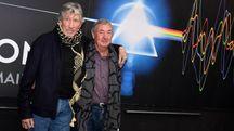 Roger Waters e Nick Mason presentano 'The Pink Floyd Exhibition' (Ansa)