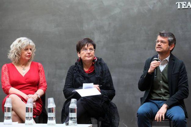 L'assessore regionale Simona Caselli, l'ad di Fico Tiziana Primori e il preisdente della Fondazione Fico Andrea Segrè (foto Schicchi)