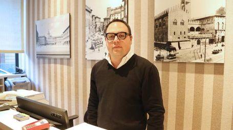 Cristian Maini, 31 anni, direttore dell'Hotel Re Enzo di Bologna
