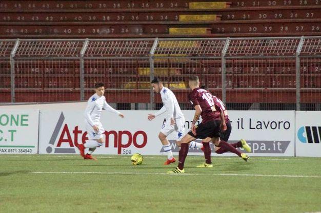 Pontedera-Prato, la sfida di Coppa Italia (foto Sarah Esposito/Germogli)