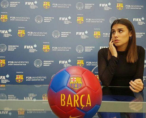 Laura Della Villa a Barcellona, dove lavora da mesi all'organizzazione del congresso Isokinetic