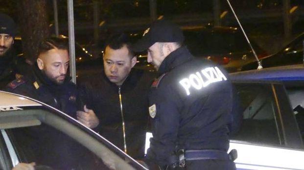 Mafia cinese, maxi blitz: uno degli arrestati (foto Attalmi)