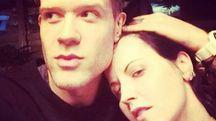 Dolores O'Riordan e il fidanzato Olé Koretsky (Instagram)
