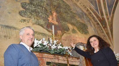 L'architetto Emiliano Marzorati e la restauratrice Antonella Paola Ferrari