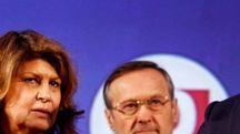 Carlo Cracco e Rosa Fanti con il sindaco di Milano Giuseppe Sala (Ansa)