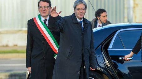 Il presidente Gentiloni in visita a Modena (foto Fiocchi)
