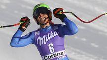 Johanan Schnarf seconda nel SuperG di Cortina (Ansa)