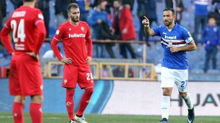 Sampdoria-Fiorentina, Quagliarella affonda i viola (LaPresse)