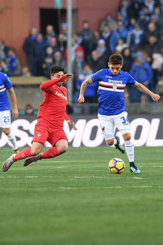 Sampdoria-Fiorentina, le foto della partita (LaPresse)
