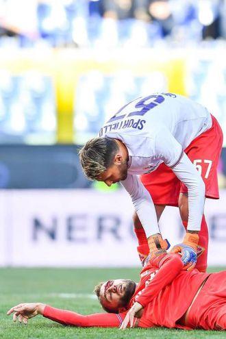 Sampdoria-Fiorentina, le foto della partita (Ansa)