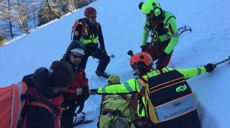 Corno alle Scale, uno degli interventi del Soccorso Alpino