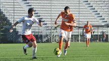 Un'immagine di Pistoiese-Arezzo 1-0 (Acerboni/Castellani)