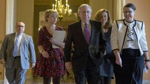 Trattative sullo shutdown in Senato, al centro il leader repubblicano McConnell (Ansa)