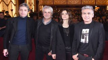 Da sinistra il sindaco Gnassi, Domenico Procacci,  Kasia Smutniak e Luciano Ligabue (Foto Migliorini)