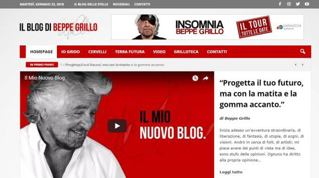 Il nuovo blog di Beppe Grillo