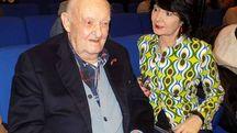 Giuseppe Sgarbi, detto Nino, con la figlia Elisabetta