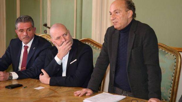Da sinistra Paolo Lucchi, Stefano Bonaccini e Sergio Venturi
