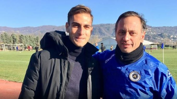 Alberto De Francesco e Fabio Gallo all'allenamento a Follo (fonte acspezia.com)