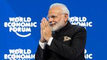 Il premier indiano Narendra Modi al forum di Davos (Imagoeconomica)