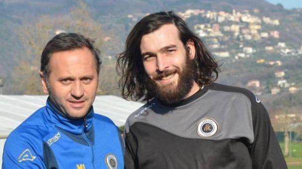 MIster Fabio Gallo con il neoaquilotto Luca Mora