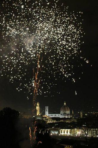 """Un momento dei fochi """"mensili"""" (Umberto Visintini / New Press Photo)"""