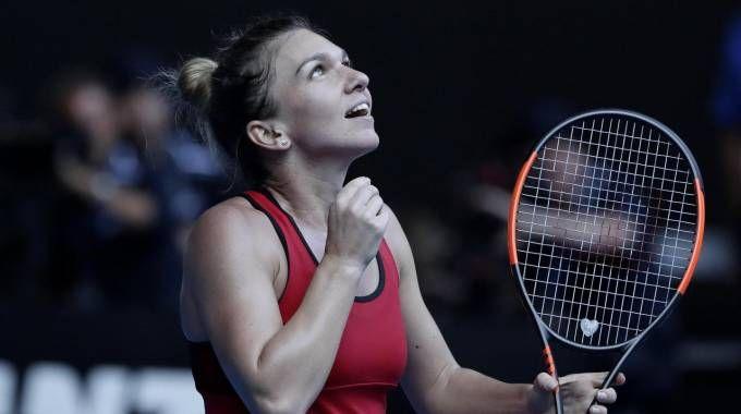Simona Halep in finale agli Australian Open 2018 (Ansa)