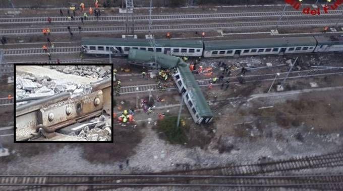 Risultati immagini per deragliamento treno pioltello