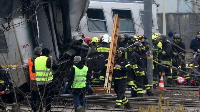 Il treno deragliato a Pioltello