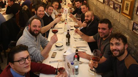 Barbareschi e fantini insieme a cena (foto Di Pietro)