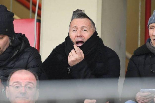 Carpi - Spezia: in tribuna al Cabassi c'è anche Paolo Belli (Foto Lapresse)