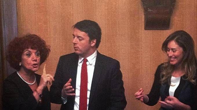Valeria Fedeli, Matteo Renzi e Maria Elena Boschi