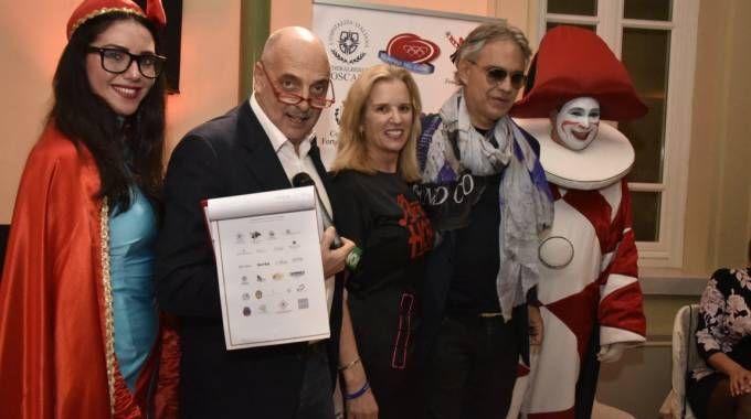 Al centro, Brosio, Kerry Kennedy e Bocelli (foto Fabrizio e Raffaele Nizza)