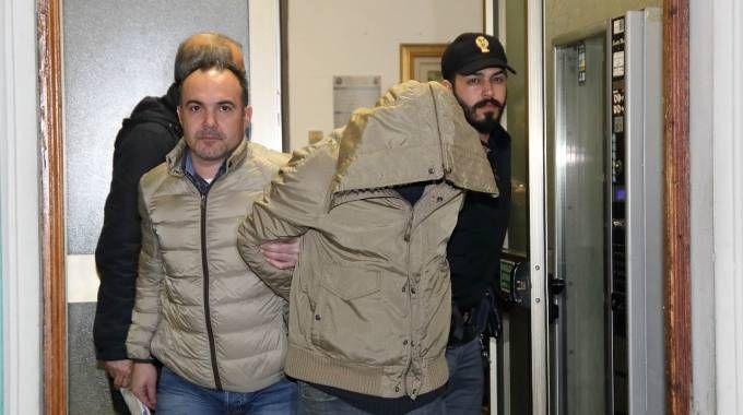 L'arresto di uno dei due banditi
