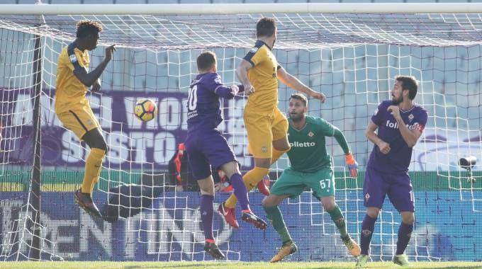 Il primo gol del Verona (Fotocronache Germogli)