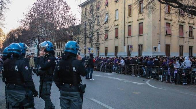 La protesta dei tifosi a fine partita (foto Germogli)