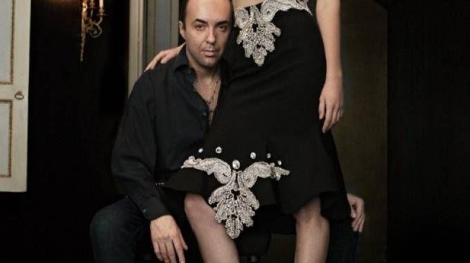 Francesco Scognamiglio con una modella