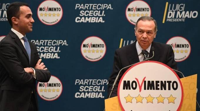 Luigi Di Maio e Rinaldo Veri (Ansa)