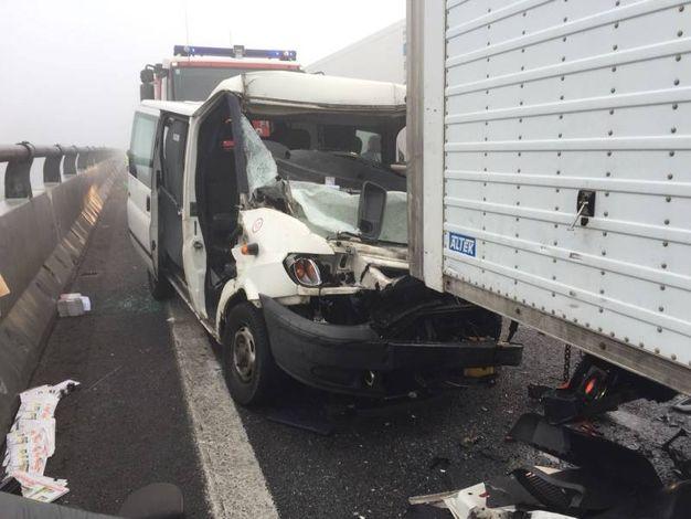 L'incidente in A13 fra Ferrara e Occhiobello